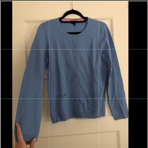 NWT Talbots Blue Pima Cotton button down cardigan